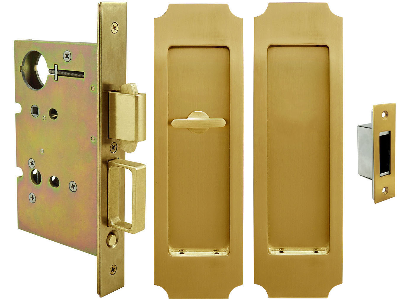 Oil Rubbed Bronze Unison Hardware Inox Pd81 234 10b Mortise Pocket Door Lock Passage With Built In Edge Pull And Dust Proof Strike Pocket Bifold Door Hardware Tools Home Improvement