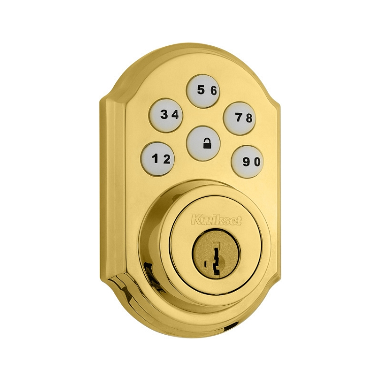 Kwikset Electronic Deadbolt Polished Brass