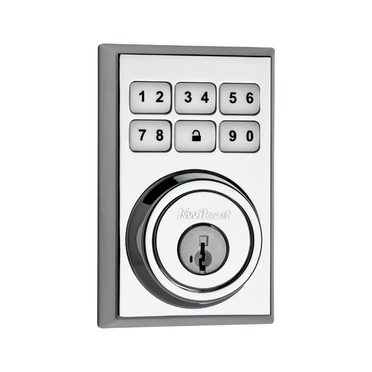 Kwikset Electronic Deadbolt Polished Chrome