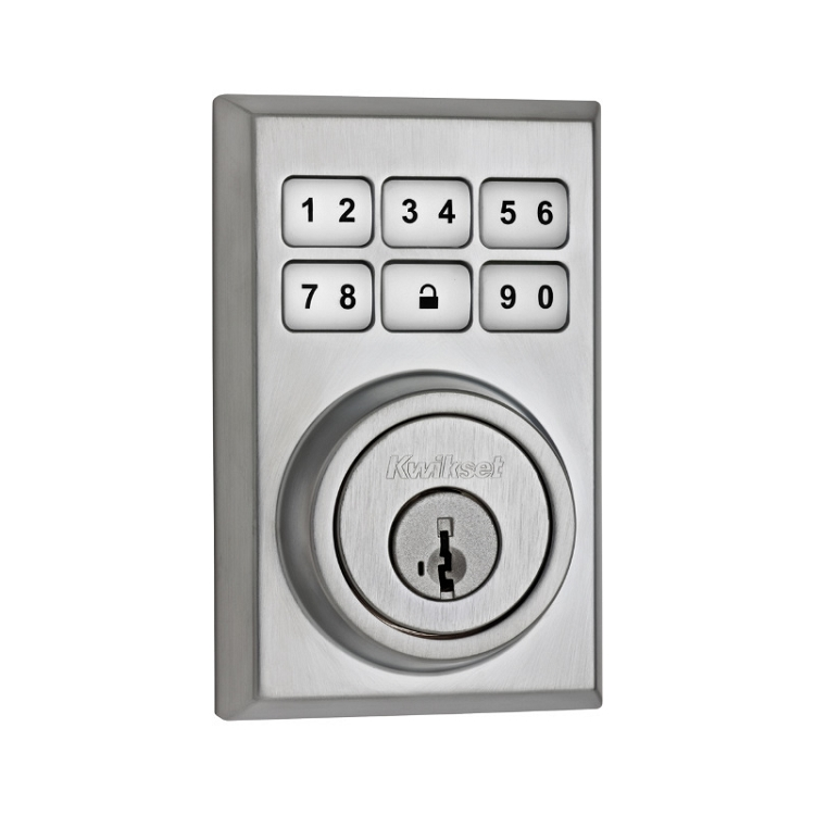 Kwikset Electronic Deadbolt Satin Chrome