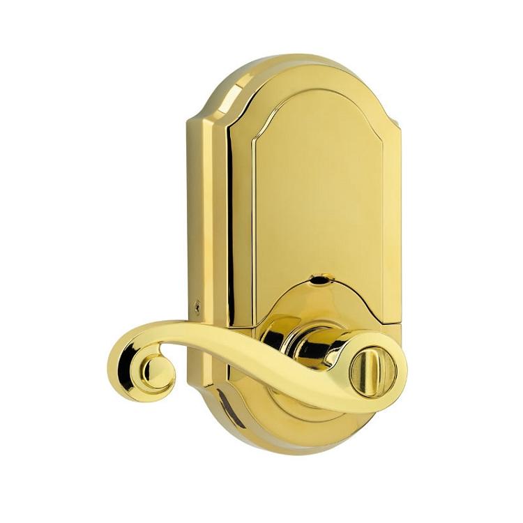 Kwikset SmartCode Electronic Lever Polished Brass