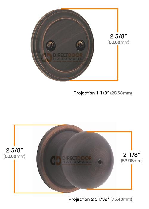 Kwikset Circa Interior Dummy Handleset Measurements