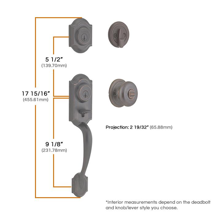 Kwikset Montara Handleset Measurements