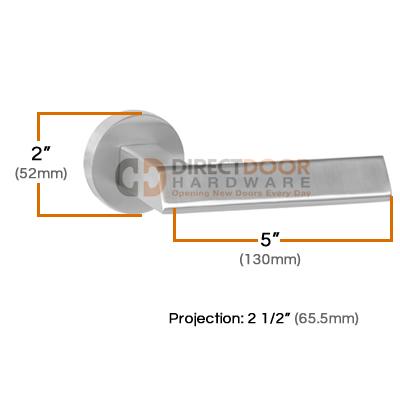 LInnea LL36R Door Lever Measurements (52mm)