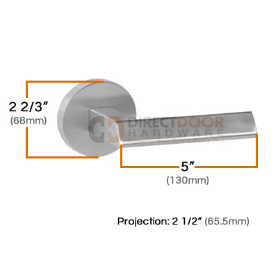 Linnea LL-36 Door Lever Measurements (68mm)
