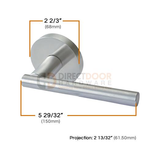 Linnea LL-87 Door Lever Measurements (68mm)