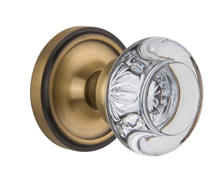 Nostalgic Warehouse Classic Rose with Round Crystal Knob