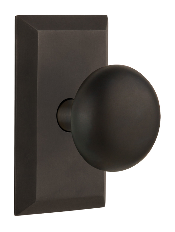 Nostalgic Warehouse Studio Plate With The New York Knob Style Direct Door Hardware