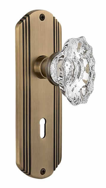 Nostalgic Warehouse Deco Plate With Chateau Knob Mortise Lock Direct Door Hardware