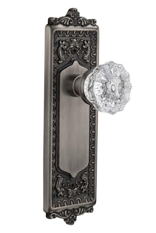 Nostalgic Warehouse Egg And Dart Plate With Crystal Knob Direct Door Hardware