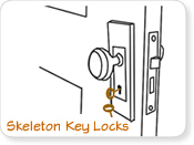 Antique Skeleton Key Locks