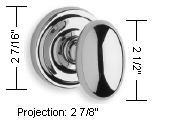 Omnia Style 432 Knob Dimensions