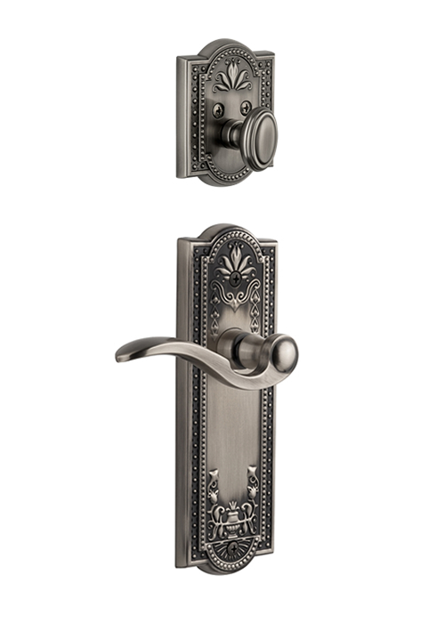 Grandeur Parthenon Handleset with Bellagio Lever - (Interior Half Only, with Deadbolt)
