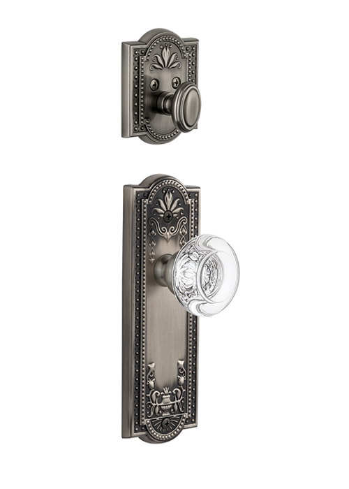 Grandeur Parthenon Handleset with Berdeaux Knob - (Interior Half Only, with Deadbolt)