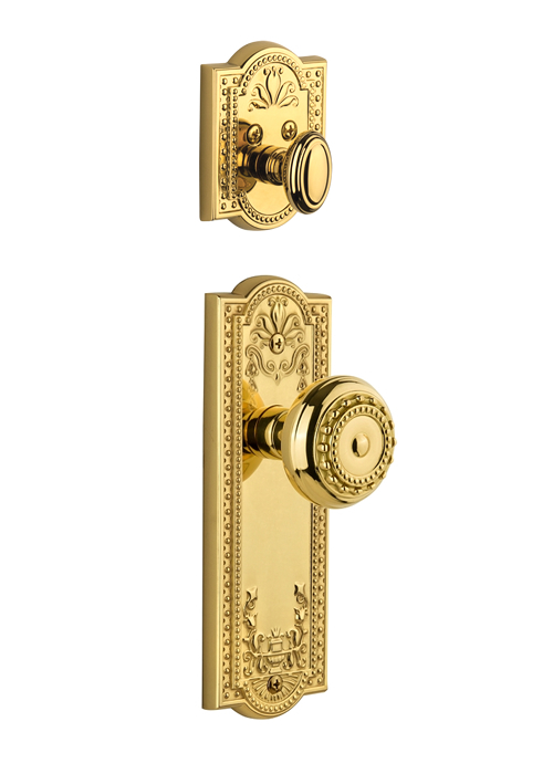 Grandeur Parthenon Handleset with Parthenon Knob - (Interior Half Only, with Deadbolt)