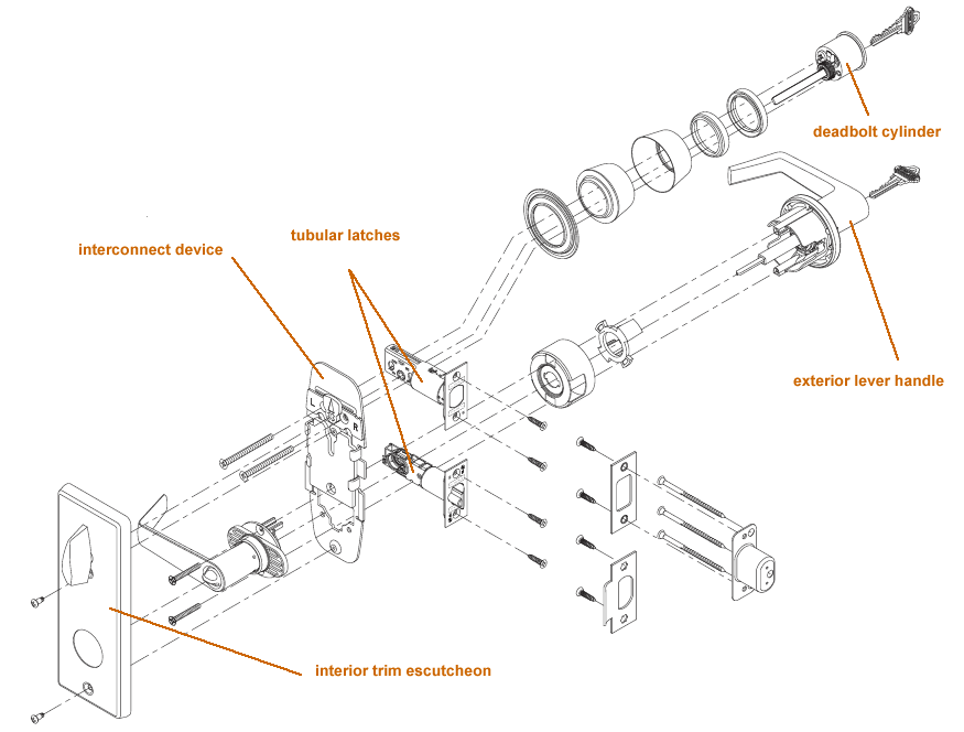 commercial door lever diagram