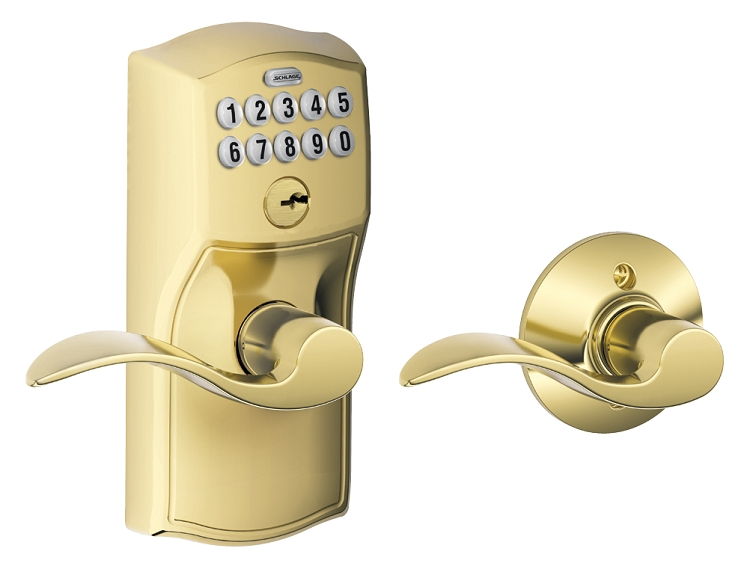 Schlage FE575 Camelot with Accent Lever Keypad Entry Auto-Lock