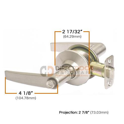 Sure-Loc Cedar HS Cylindrical Lever Door Lever Measurements