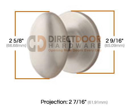 Sure-Loc Arapaho Egg Shaped Knob Measurements