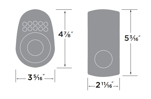 Sure-Loc Electronic Keypad Deadbolt Measurements