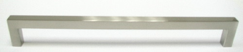 Top Knobs Nouveau III 8 13/16 Inch CC Square Bar Pull - Brushed Satin Nickel