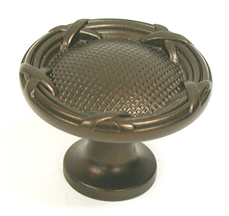 Top Knobs Edwardian Ribbon & Reed Cabinet Knob - Oil Rubbed Bronze