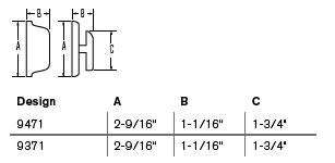 Weiser Deadbolt Measurements