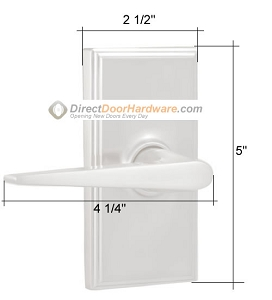 Weslock Utica Lever Handle Measurements