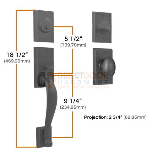 Weslock Aspen Handleset Measurements