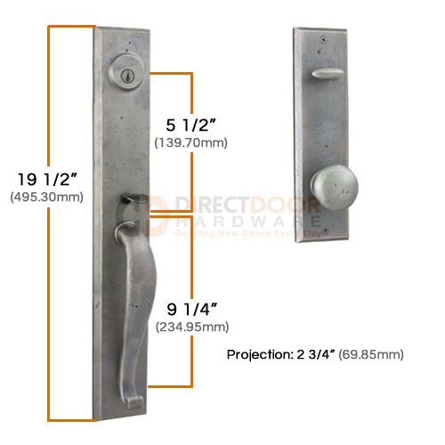 Weslock Rockford Handleset Measurements
