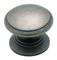 Amerock 1 1/4 Inch Weathered Nickel Cabinet Knob