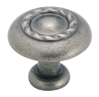 Amerock 1 1/4 Inch Weathered Nickel Rope Cabinet Knob