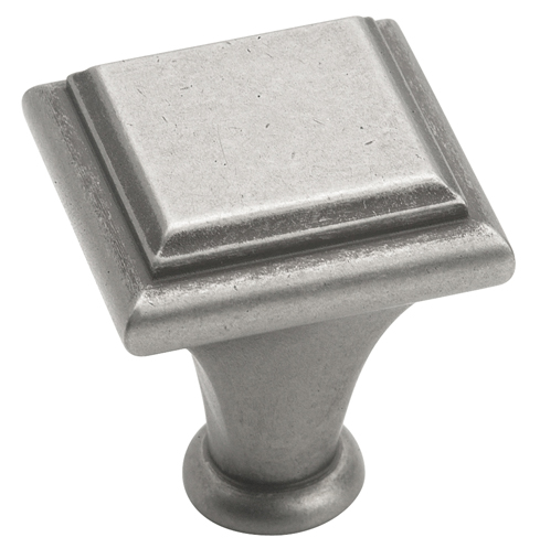 Amerock 1 Inch Weathered Nickel Manor Cabinet Knob