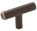 Amerock Bar Pulls 2 Inch Cabinet Knob - Oil-Rubbed Bronze