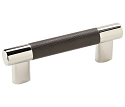 Amerock Esquire 3 & 3 3/4 Inch CC Cabinet Pull - Polished Nickel/Black Bronze