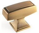 Amerock 1 1/2 Inch Mulholland Cabinet Knob - Gilded Bronze
