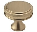 Amerock Oberon 1 3/8 Inch Cabinet Knob - Golden Champagne