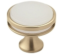 Amerock Oberon 1 3/8 Inch Cabinet Knob - Golden Champagne/Frosted