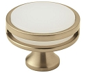 Amerock Oberon 1 3/4 Inch Cabinet Knob - Golden Champagne/Frosted