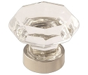 Amerock Traditional Classics 1 5/16 Inch Cabinet Knob - Clear/Polished Nickel
