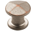 Amerock Vasari 1 1/4 Inch Cabinet Knob - Weathered Nickel Copper
