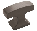 Amerock Westerly 1 5/16 Inch Cabinet Knob - Graphite
