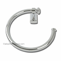 Atlas Homewares Legacy Bath Collection Towel Ring in Polished Chrome