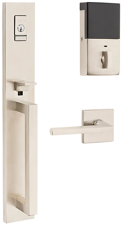 Baldwin Evolved Minneapolis Full Escutcheon Handleset