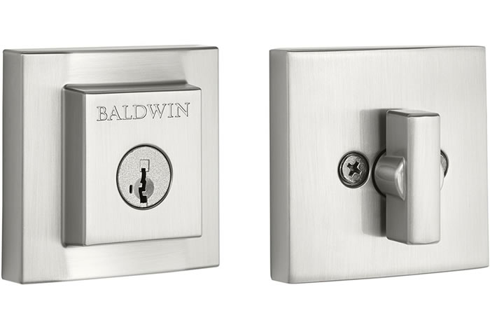 Baldwin Prestige Series Square Deadbolt Satin Nickel