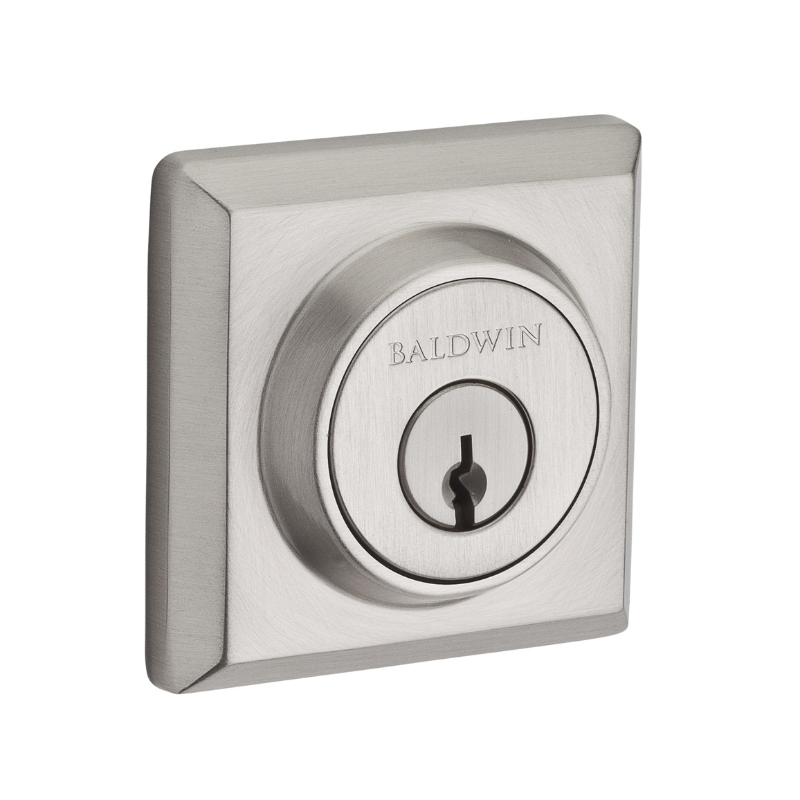 Baldwin Reserve Series Traditional Square Single Cylinder Deadbolt