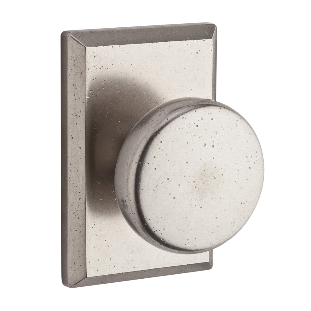 Baldwin Reserve Series Rustic Knob with Rustic Square Rosette