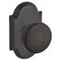 Baldwin Reserve Series Rustic Knob with Rustic Arched Rosette