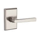 Baldwin Reserve Series Taper Lever with Rustic Square Rosette