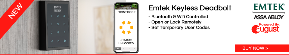 Emtek Empowered keyless deadbolt locks connected with August